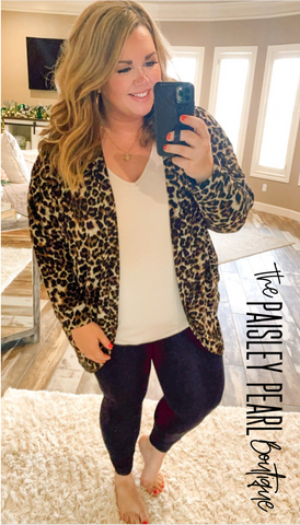 Basic Leopard Cardigan
