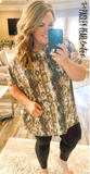 Ezra Tunic Top-Natural Sequin Snake