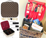 All I Need Makeup Bag-BROWN CHECK PREORDER (ships in approx. 3-4 weeks)