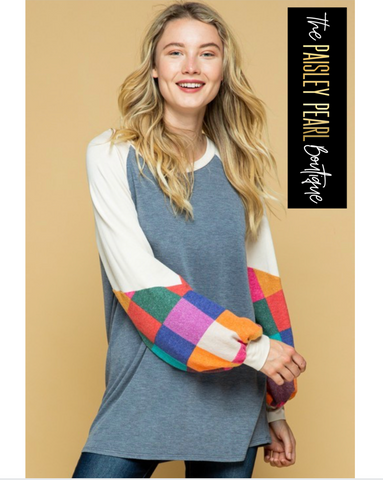 Fall Fun Colorblock Top