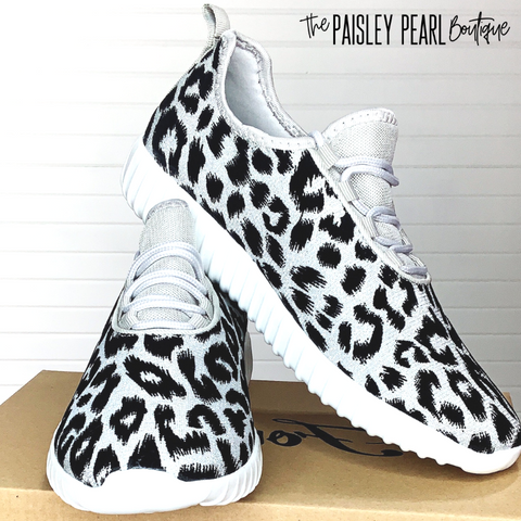 Wild Sole Leopard Sneakers-Grey/Silver