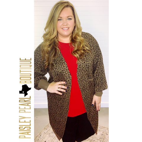 Love is Wild Leopard Cardigan