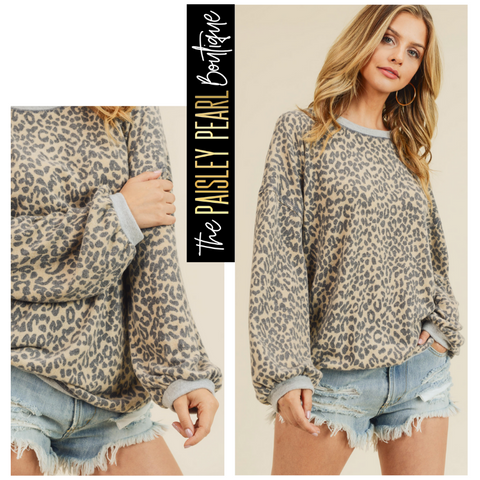 Dream in Leopard Sweatshirt
