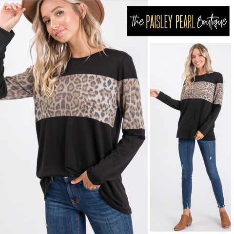 Pretty Gal Leopard Top