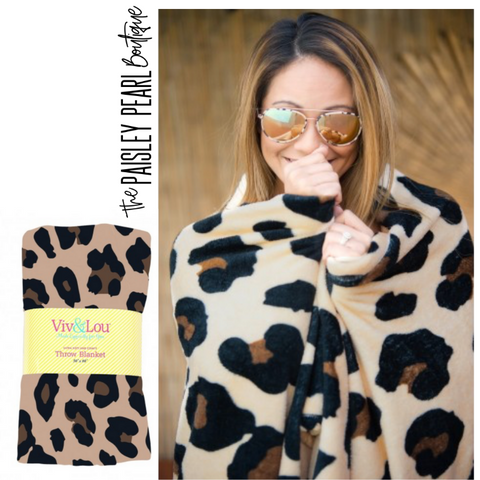 Stay Cozy Leopard Blanket