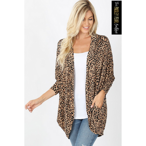 Got It Going On Leopard Cardigan