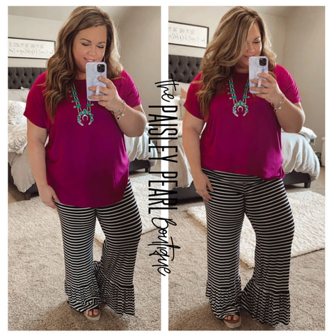 Madalyn Striped Ruffle Pants