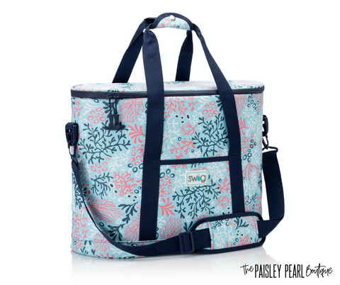 Coral Me Crazy Family Cooler Tote