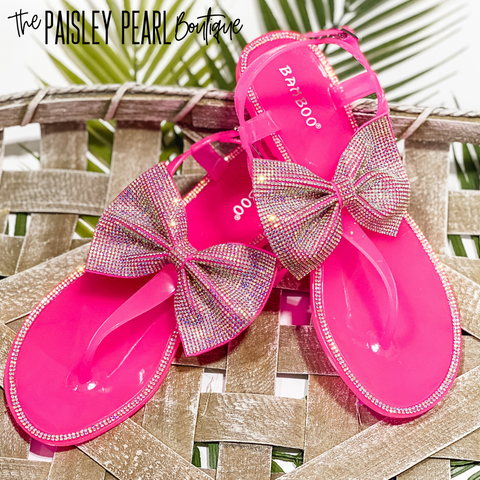 Bling Queen Jelly Sandals