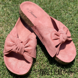 Smooth Moves Bow Sandals-BLUSH