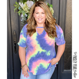 Livin' It Up Tie-Dye Top