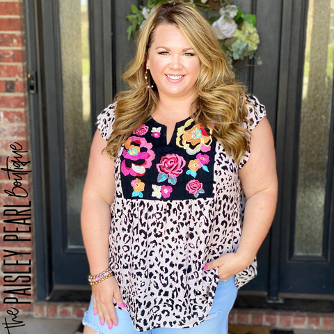 Picture Perfect Leopard Top