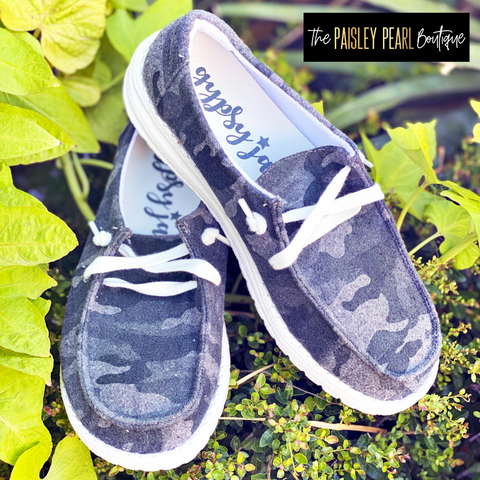 Holly Boat Shoes-Grey Camo