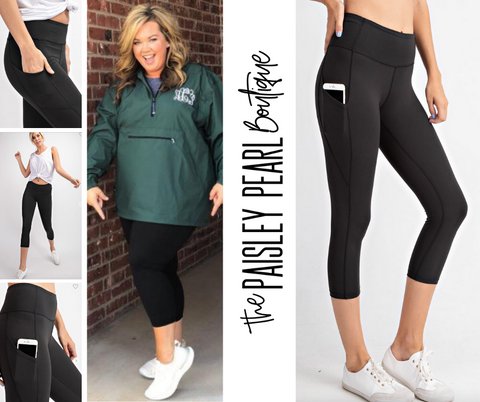 CAPRI Tate Leggings w/side pocket-Black