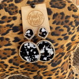 Black/White Bling Earrings