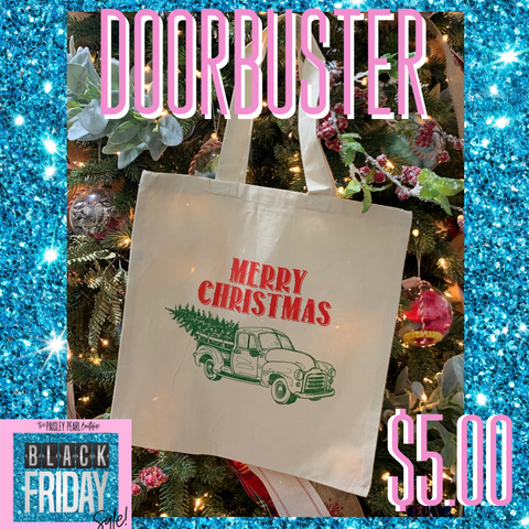 Black Friday DOORBUSTER-Merry Christmas Tote