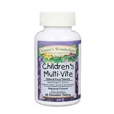 Children's Multi-Vitamin, 60 chewable tablets, Vegetarian, Gluten Free