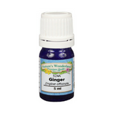 Ginger Essential Oil - 5 ml (Zingiber officinale) | Joint & Muscle, Pain Relief