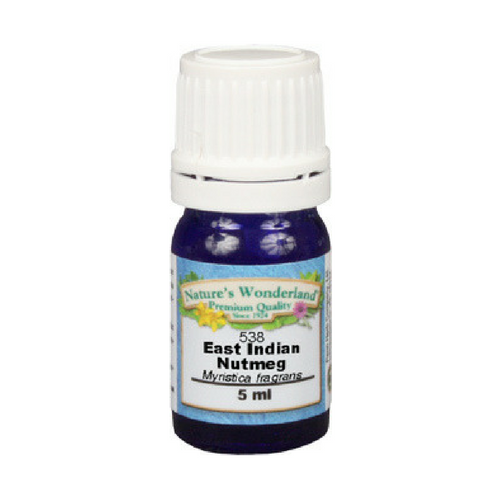 Nutmeg Essential Oil, East Indian - 5 ml (Myristica fragrans) | Mentally Uplifting