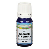 0 Rosemary Essential Oil, Spanish - 10 ml (Rosmarinus officinalis) | Memory & Concentration