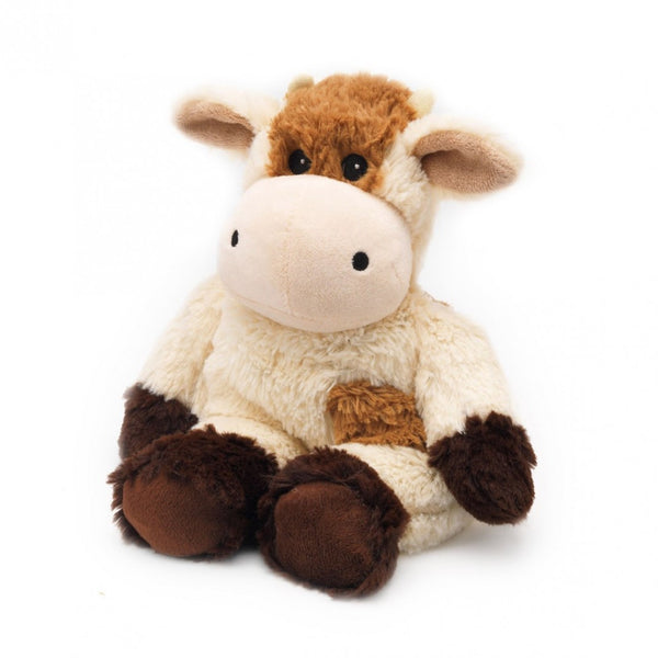 Warmies® Cozy Plush Cow | Heat Therapy Toy | Heatable Toy | Microwaveable | Lavender | Flaxseed