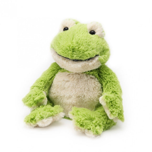 Warmies® Cozy Plush Frog | Heat Therapy Toy | Heatable Toy | Microwaveable Toy | Lavender | Flaxseed