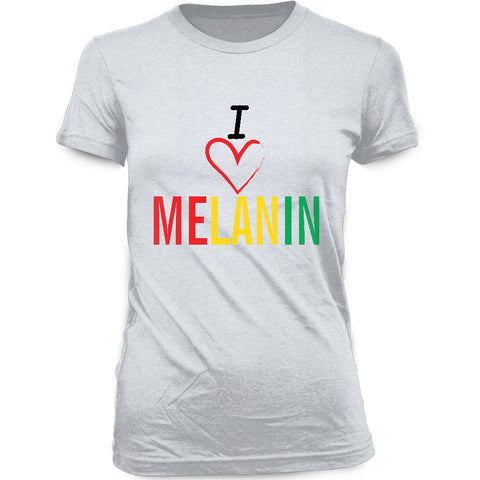 Women's I Love Melanin T-shirt