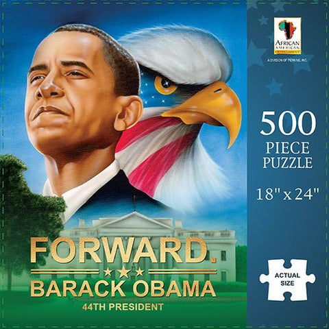 African American Expressions: Barack Obama: Forward 500pc Jigsaw Puzzle
