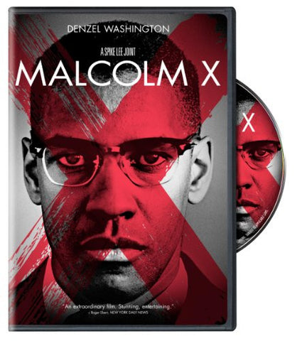 MALCOLM X - BLACK HISTORY DVD - DENZEL WASHINGTON - 1992