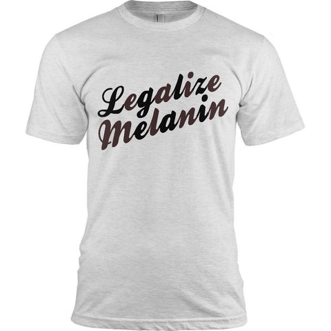 LEGALIZE MELANIN T-SHIRT - MEN'S - BLACK EMPOWERMENT TEE