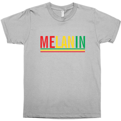 MELANIN T-SHIRT - BLACK EMPOWERMENT TEE - PAN AFRICAN COLORS