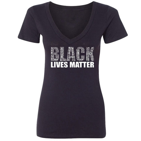 Black Lives Matter V-neck  T-shirt