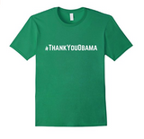 Men's Hashtag Thank You Obama T-shirt