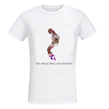 MICHAEL JACKSON, HIS MUSIC WILL LIVE FOREVER - BLACK HISTORY TEE