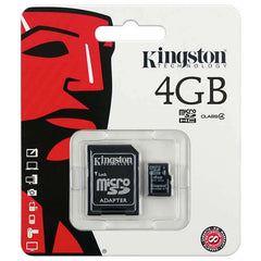 Memoria Micro SD Kingston 4GB, Clase 4