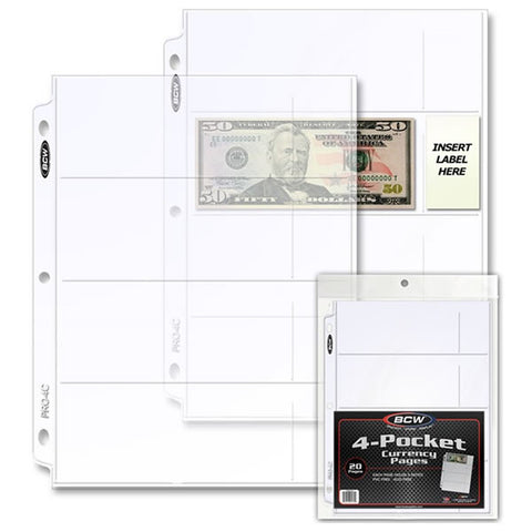 Acetatos BCW para Billetes, Monedas y Documentos