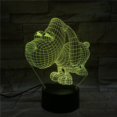 Cartoon 7 Colors Changing 3D lovely Dog NightLight LED USB Visual Desk Lamp Bedroom Decor Baby Sleep Lighting Kids Gifts 50