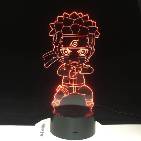 Uzumaki Naruto 3D Lamp Color Changing Light For Children Bedroom Decoration Nightlight Baby Kungfu Naruto Led Night Light Gift For Kids 3289
