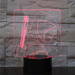 3D-2139 Man With Arrows LED Acrylic Night Light with 7 Colors Touch Remote Control Illusion Change Gift