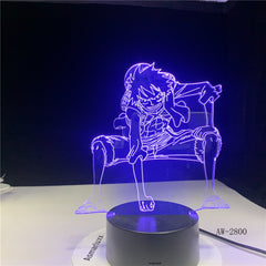 One Piece Luffy Table Lamp 3D LED Touch Switch Night Light Anime USB 7 Colors Atmospheres Decor LED Lighting Decor Gifts AW-2800