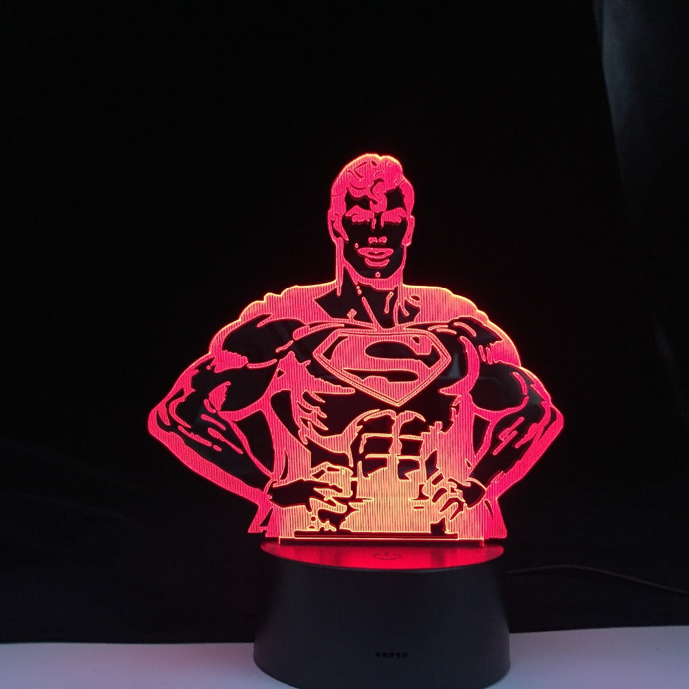 3D Lamp Marvel Comics Superhero Superman Kid 3D Led Night Light Bedroom Decor Dropshipping Child Birthday Gift Table Lamp