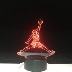 3D-4605 Bull 23 Jordan Dunk Figure 3d Lamp Sports Basketball Home Decor Birthday Gift for Kids Boy Child Novelty Light