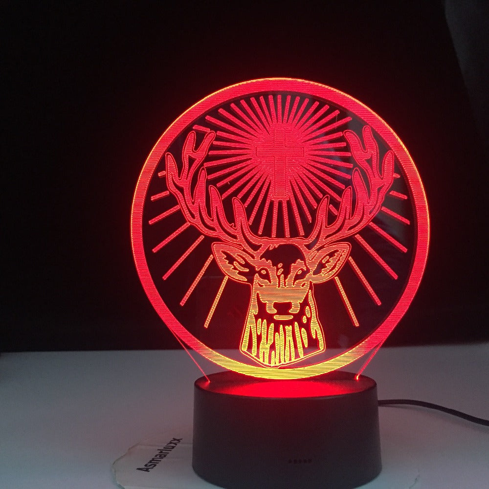Jagermeister 16 Colors Changing Led Night Light Lamp Touch Remote Sensor Usb and Battery Powered Nightlight for Bar 3DTable Lamp