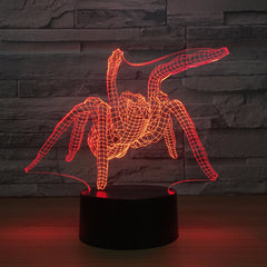 Spider Acrylic Creative USB Bedside Lamp 3D Night light Touch Control Night light luminaria luminaria de mesa Drop Shipping