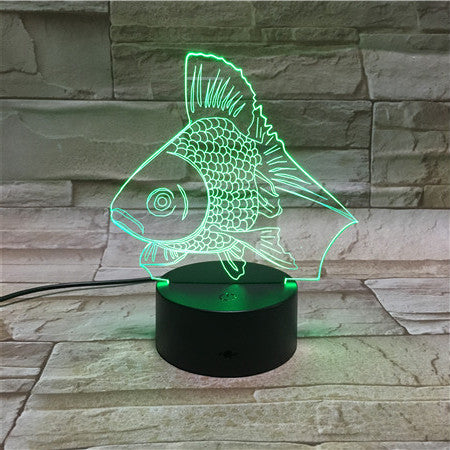 Gold Fish LED Night Light USB LED Color Change 3D Decor luminaria For Children Bedroom Lighting Toys Kids Gift Decor LED 125