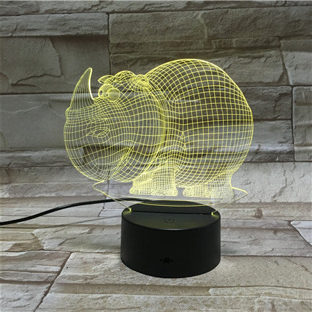 Dinosaur New 3D Table Lamp Luminaria LED Night Lights USB Touch Switch Children's Room Decorative lighting Great T AW-146