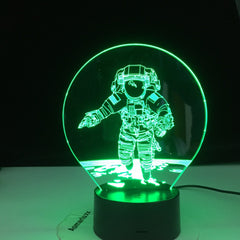 3D Astronaut Night Lamp 7 Colors Change LED Illusion Visual Night Light Kids Bedroom Decoration Sleeping Lamp Dropshipping