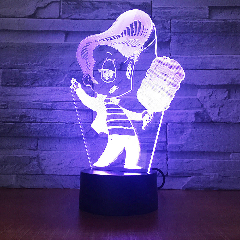 Karaoke Singing 3D lamp 7 Color Change 3D LED Light Acrylic Touch USB Lamp Room Table Desk Night Light kid's Friends Fun Gift