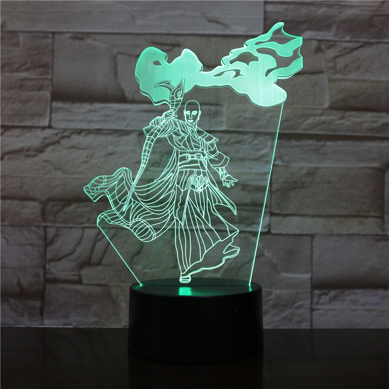 3D-1985 Cartoon 3D LED Lamp Heros Figure