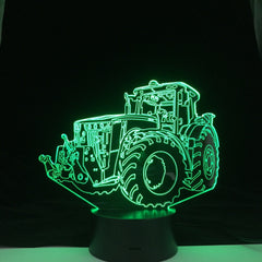 Tractor Truck Car Kids Room Nightlight 3D Led Night Light Desk LampTouch Sensor Room Lighting Children Holiday Best Home Gift